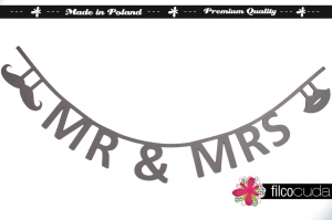 "Girlanda filcowa ""Mr & Mrs"""
